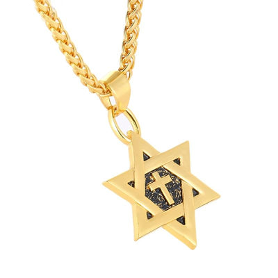 Star of David with Cross Necklace