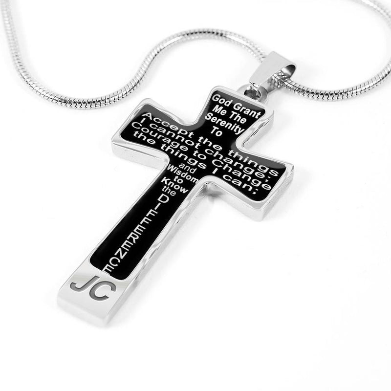 AA Necklace Serenity Cross - Custom Engrave