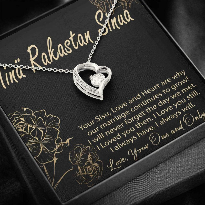 Finnish Valentine Necklace - Gift Box and Card Included