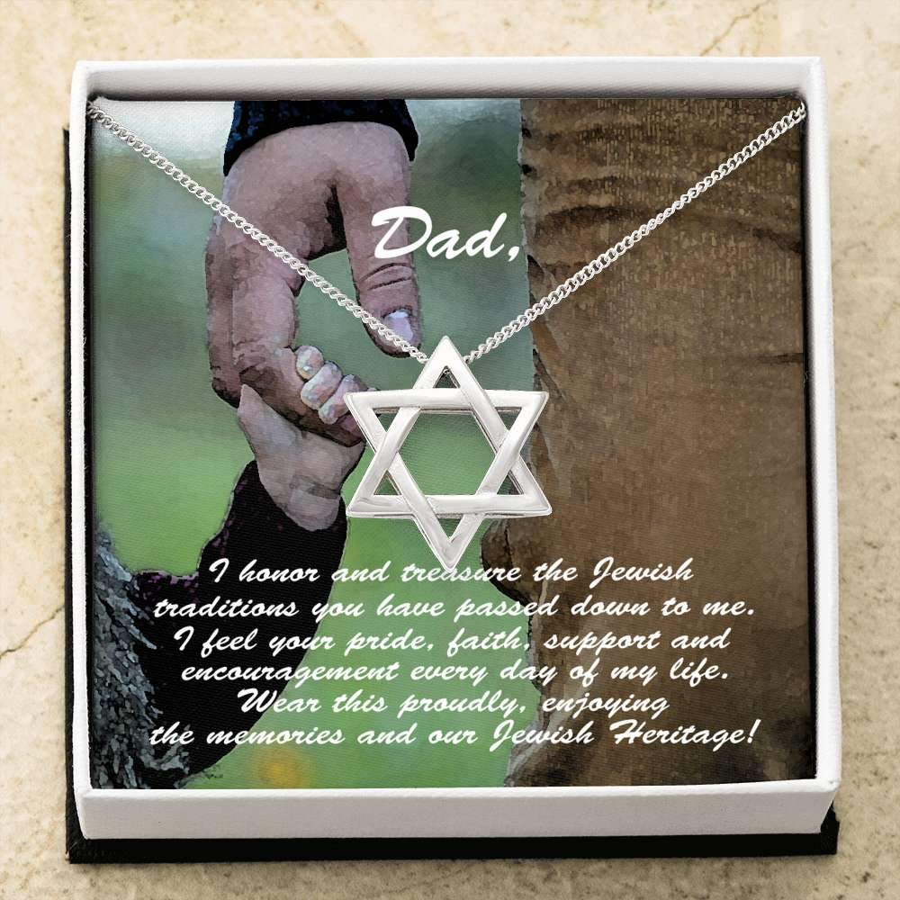 Star of David Necklace Father's Gift