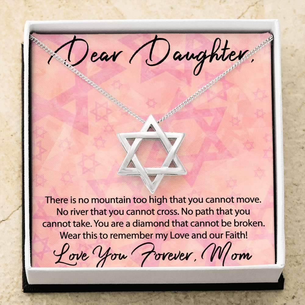 Jewish Mom to Daughter Necklace - Great Valentine Gift