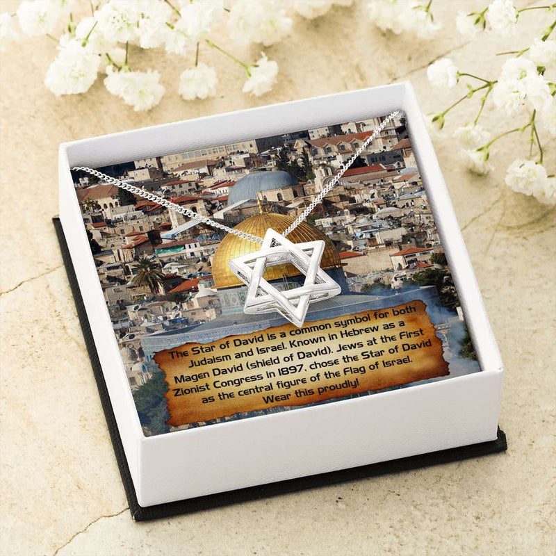 Jewish Star of David - Gift Box & Card Incl.