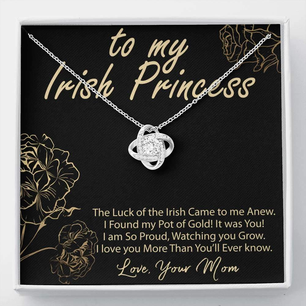 Irish Princess Mom to Daughter Necklace