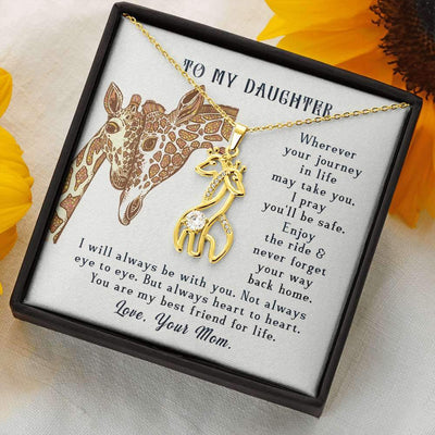 Love My Daughter Giraffe Necklace