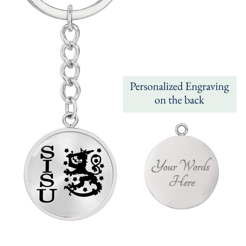 Finnish Sisu Keychain - Engraving Option