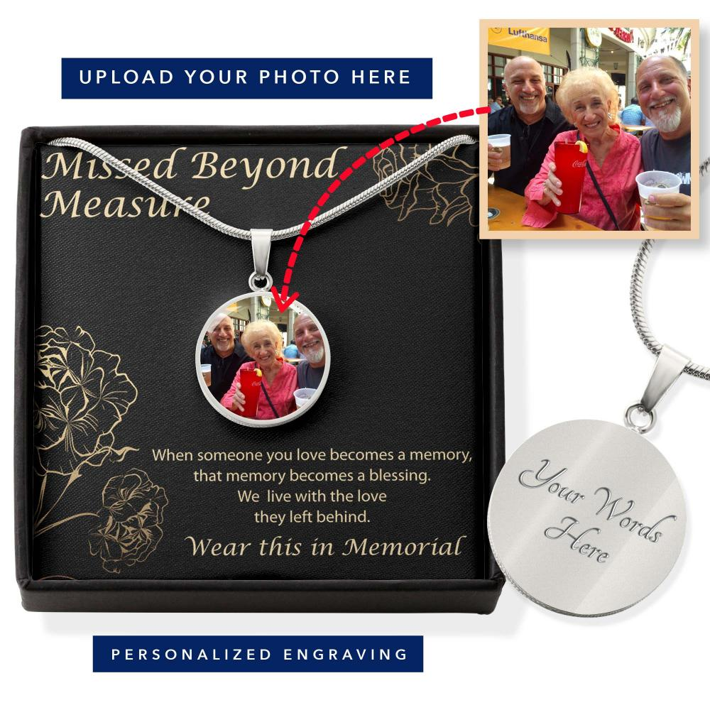 Memorialize Your Loved one With Their Picture on This Necklace