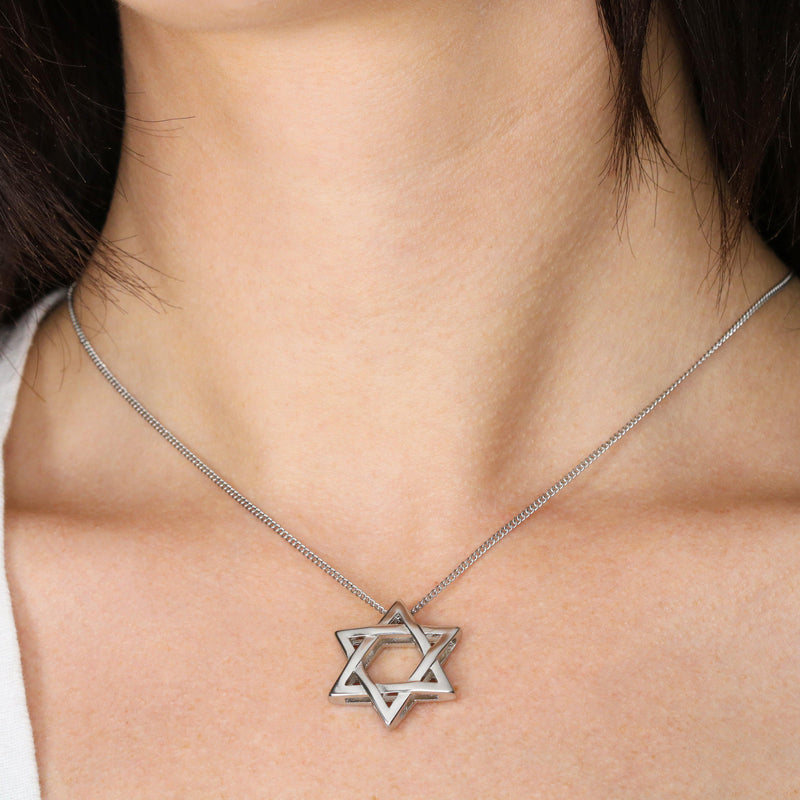 Star of David necklace (two sided)
