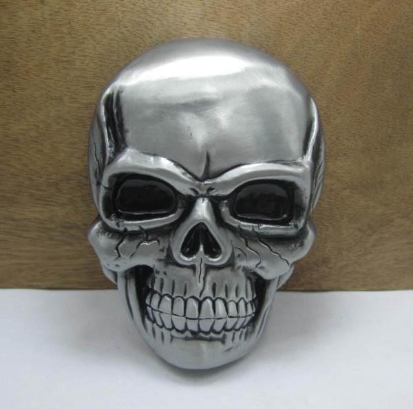 Zinc alloy skull belt buckle