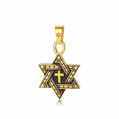 Megan Star Of David With Cross Messianic Necklace