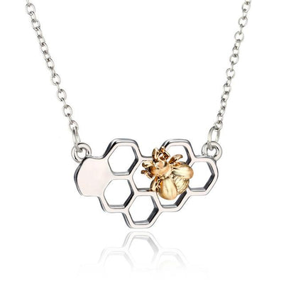 Honeycomb Bee Necklaces For Women
