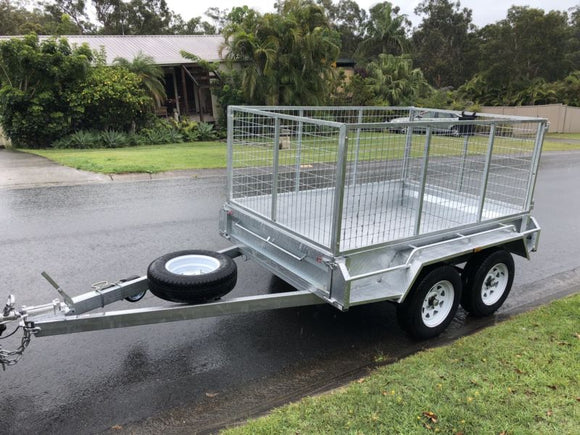 8x5 Tandem Heavy Duty Galvanised Box Trailer with 600mm High Cage