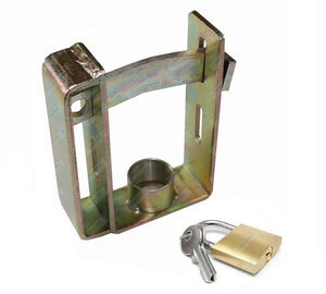 Trailer Coupling Lock Heavy Duty with Paddlock and Key