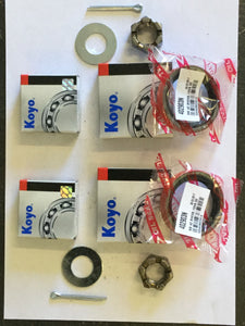 Pair Wheel Bearing Kit Trailer, Caravan, Camper Holden LM Plus Axle Nut kit
