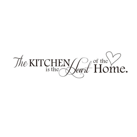 The Kitchen Is The Heart Of The Home Pattern Quotes Wall Sticker Adorable Pattern Quotes