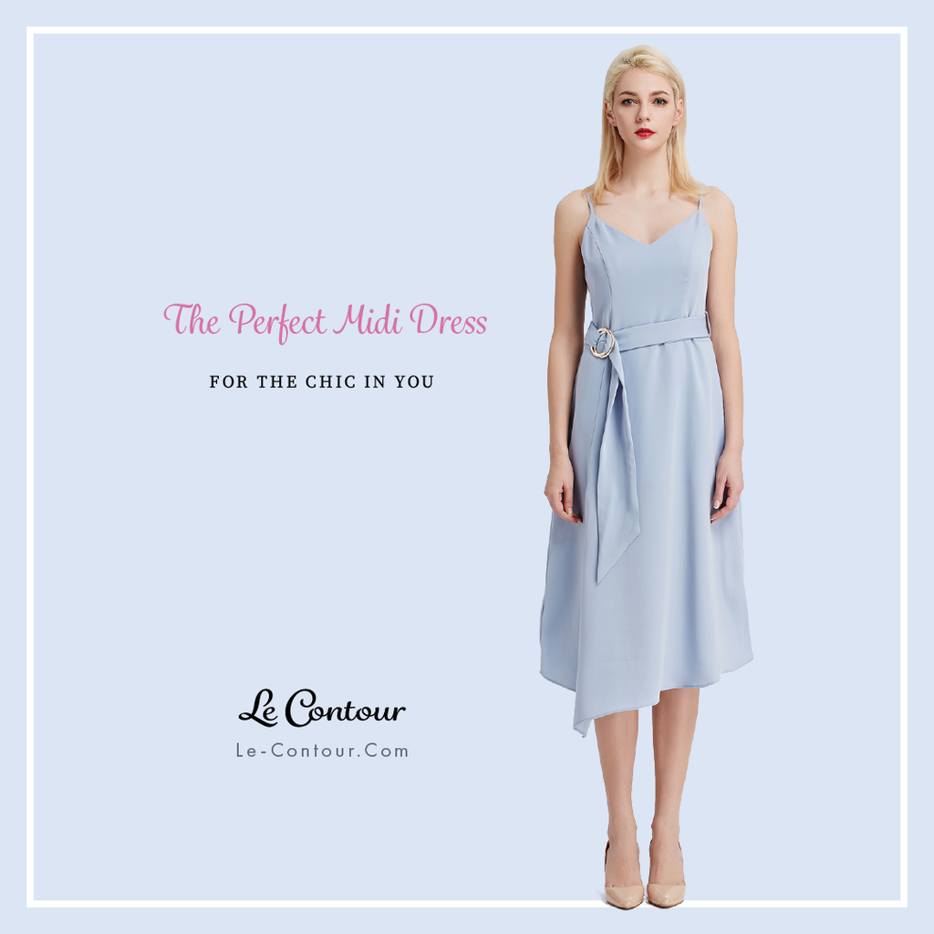 Look Effortlessly Chic With The Must-Have Midi Dress Styles