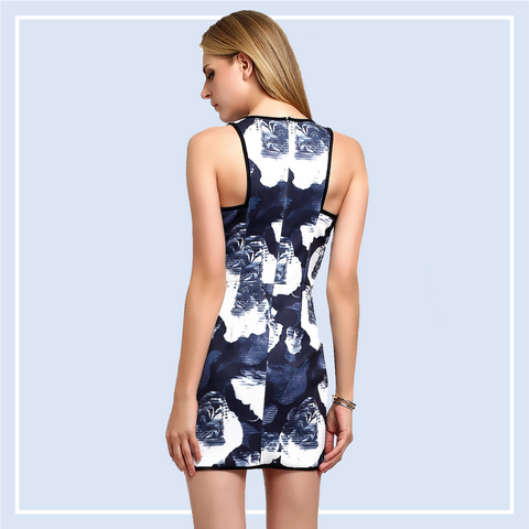 Floral-Printed-Dress-Online-Smart-Casual-Shopping-Singapore