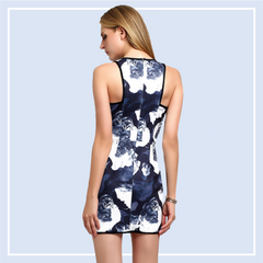 Floral-Print-Sheath-Dress-Online-Shopping-Singapore
