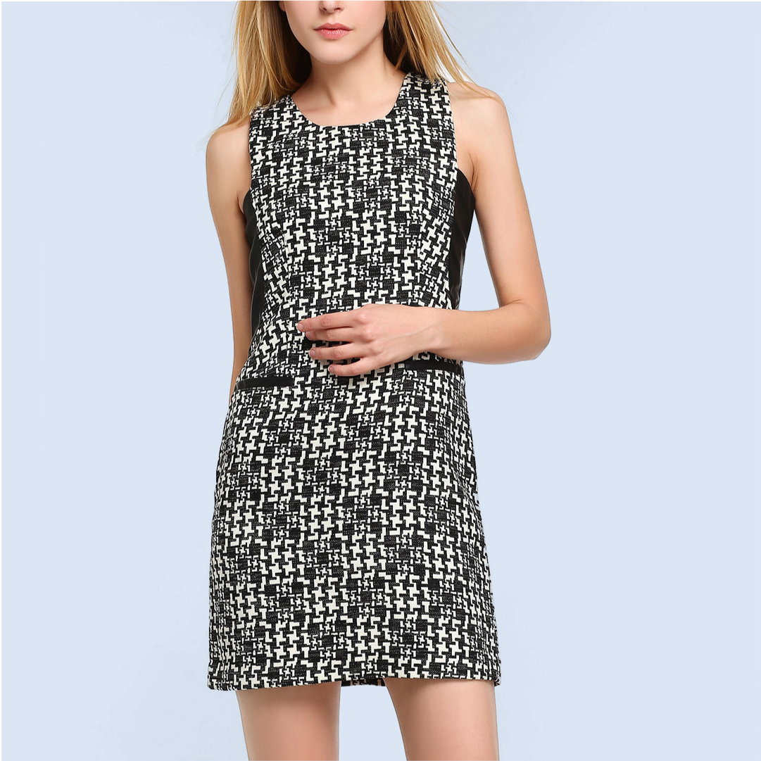 Mixed-Media-Print-Sheath-Dress-Online-Dresses-Shopping-Singapore