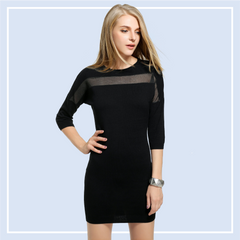Sheer-Black-Dress-Online-Smart-Casual-Office-Dresses-Shopping-Singapore