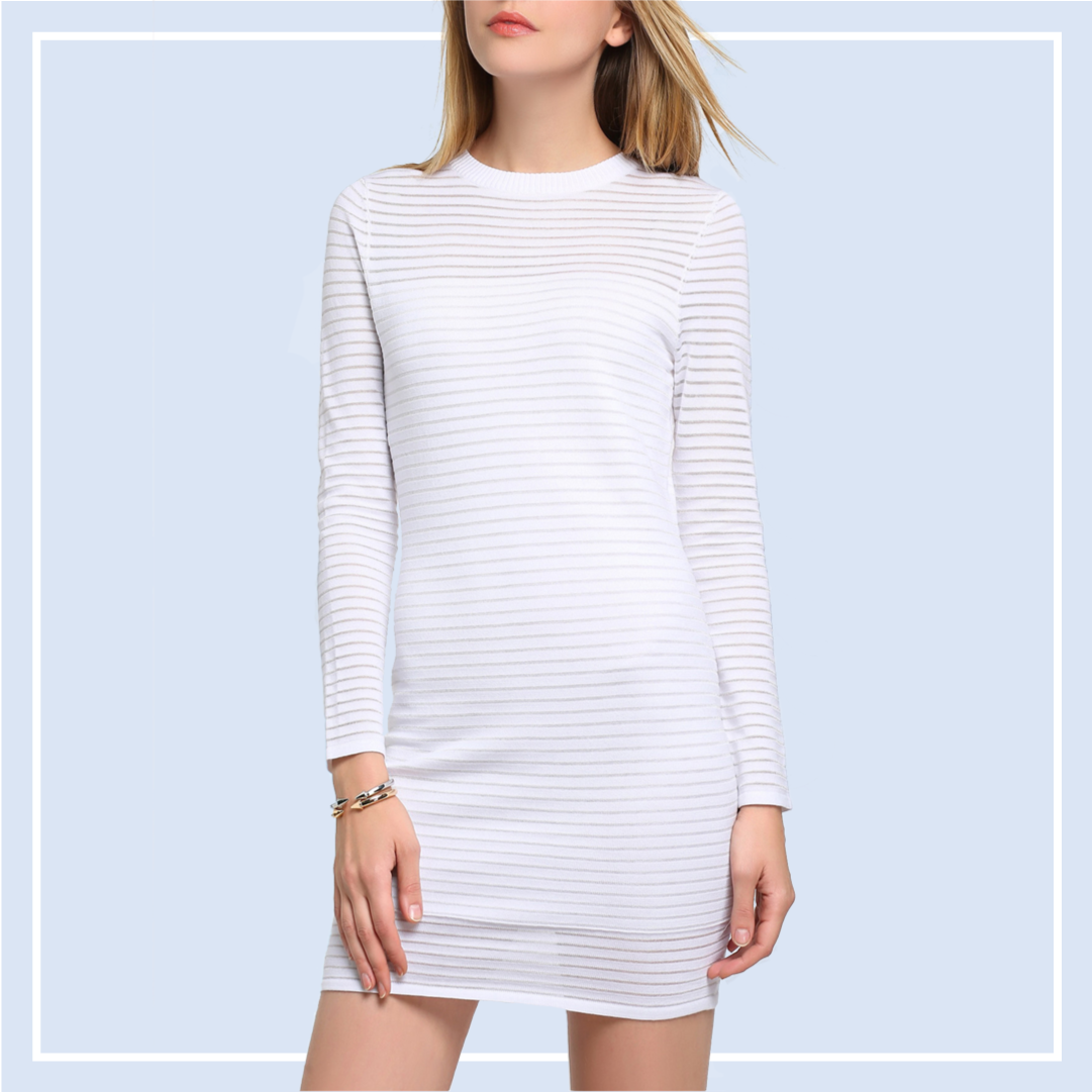 White-Striped-Bodycon-Dress-Online-Dresses-Shopping-Singapore