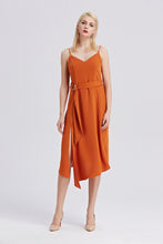 Load image into Gallery viewer, Rust-Strappy-Sleeveless-Midi-Dress-Main