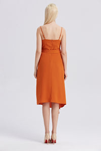 Rust-Strappy-Sleeveless-Midi-Dress-Back