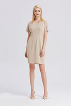 Load image into Gallery viewer, Beige-Tahari-Sheath-Dress-Full