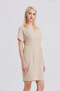 Beige-Tahari-Sheath-Dress-Side