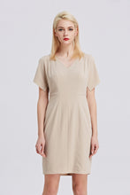 Load image into Gallery viewer, Beige-Tahari-Sheath-Dress-Main
