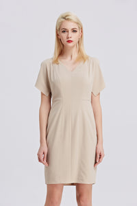 Beige-Tahari-Sheath-Dress-Main