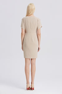 Beige-Tahari-Sheath-Dress-Back