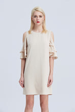 Load image into Gallery viewer, Asteria-Cold-Shoulder-Shift-Dress-Main