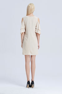 Asteria-Cold-Shoulder-Shift-Dress-Back