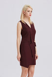 Sleeveless-V-Neck-Sheath-Dress-Side