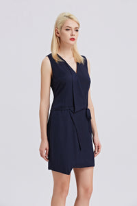 Sleeveless-V-Neck-Sheath-Dress-Navy-Side