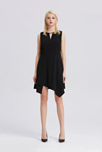 Load image into Gallery viewer, Black-Sleeveless-A-Line-Dress-Main
