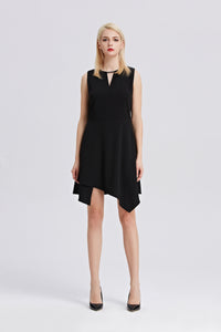 Black-Sleeveless-A-Line-Dress-Main