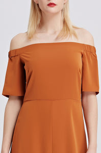 Off-The-Shoulder-Midi-Dress-RUST-Sleeves