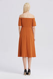 Off-The-Shoulder-Midi-Dress-RUST-Back