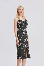 Load image into Gallery viewer, Strappy-Midi-Floral-Print-Dress-Side