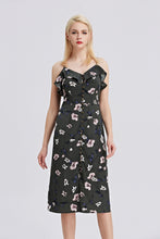 Load image into Gallery viewer, Strappy-Midi-Floral-Print-Dress-Main