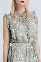 Load image into Gallery viewer, Helena-Floral-Midi-Dress-Khaki-Details