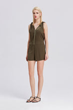 Load image into Gallery viewer, Khaki-Sleeveless-Romper-Full