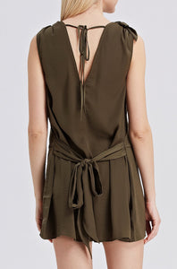 Khaki-Sleeveless-Romper-Back