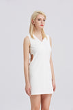 Cut-out-Sheath-Dress-White-Side