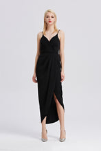 Load image into Gallery viewer, Roman-Strap-Maxi-Dress-Black-Main