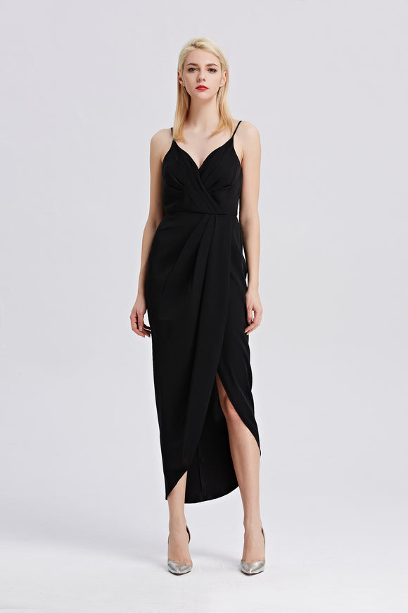Roman-Strap-Maxi-Dress-Black-Main
