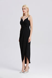 Roman-Strap-Maxi-Dress-Black-Side