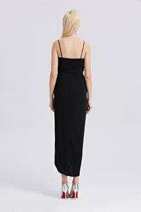 Roman-Strap-Maxi-Dress-Black-Back