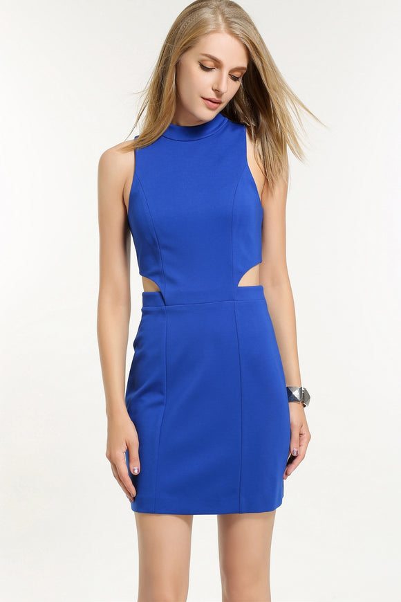 Pencil-Cut-Out-Dress-in-Blue-Front